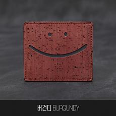 [Corco] 스마일 카드지갑 버건디