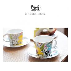 [프렌치불]뉴 본차이나 도자기 커피잔 2인조