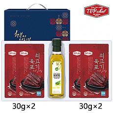 탑셰프 올리브유250 쇠고기육포30g4P(5종)트레이